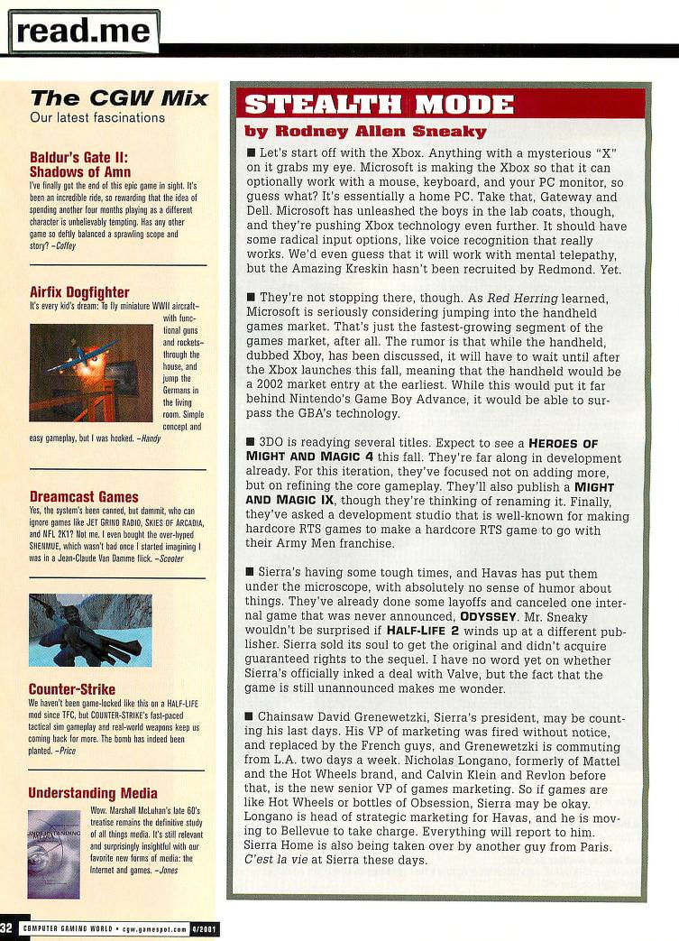 Computer Gaming World Issue 201 April 2001